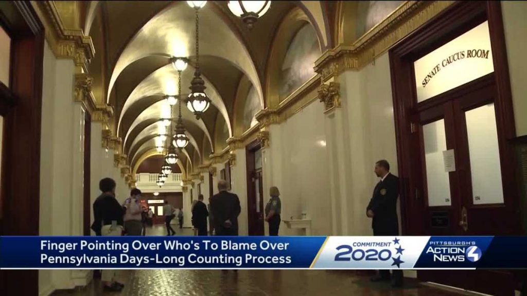 Finger-pointing over blame for time needed to count mail-in PA ballots