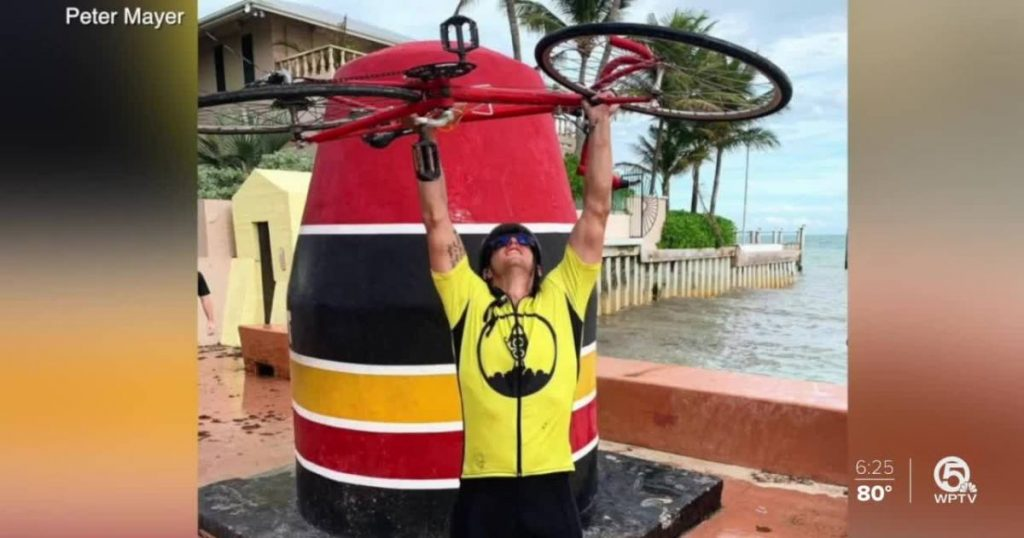 Man rides bike from Boca Raton to Key West for suicide prevention awareness